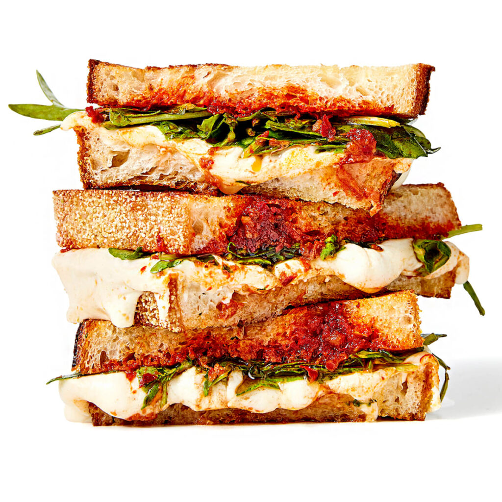 Nduja Spreadable Spicy Salami Grilled Cheese Recipe